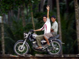 Boys on Motorbike  Lagundri Bay  Pulau Nias  North Sumatra  Indonesia