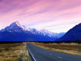 Early Morning of Mount Cook and Other High Peaks of Southern Alps  New Zealand