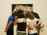 Visitors Watching a Kandinsky's Painting in the Peggy Guggenheim Collection  Venice  Italy