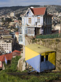 Ascensor Artilleria with City Buildings Beyond  Valparaiso  Valparaiso  Chile