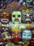 Traditional Painting at Museum Puri Lukisan  Bali  Indonesia