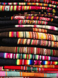 Stack of Woven Cloth  La Paz  Bolivia