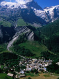 Le Chazalet  La Grave Village Below  with la Meije Rhone-Alpes  France