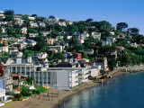 Waterfont Houses at Town Beach  Sausalito  California