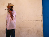 Old Man with Transistor Radio and Cigar  Havana  Havana  Cuba