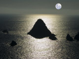 Silhouette of Island along Jalisco Coast North of Melaque  Melaque  Jalisco  Mexico