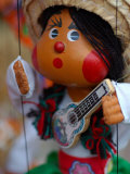 Traditional Mexican Puppet at Street Stall near Playa de Los Muertos in Zona Romanica  Mexico