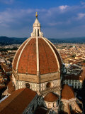 Dome of Duomo from Campanile  Florence  Tuscany  Italy