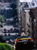 Taxi Driving Down Jones Street  San Francisco  California