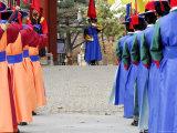 Changing of Guard Ceremony  Deoksegung  Seoul  South Korea