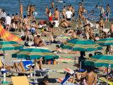 Summer Crowds on Lido di Venezia  Venice  Italy
