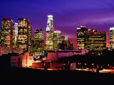 City Skyline  Los Angeles  California