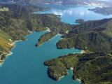 Waterfall Bay and Mistletoe Bay  Marlborough Sounds  New Zealand