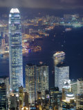 Hong Kong Harbour and Kowloon at Dusk