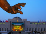 Hand of Statue in Front of War Memorial at Dusk  Seoul  Seoul  South Korea