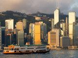 Passenger Ferry Crossing Hong Kong Harbour toward Central  Hong Kong  China
