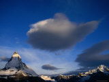 The Matterhorn Dwarfed at Sunrise by a Giant Cloud  Valais  Switzerland