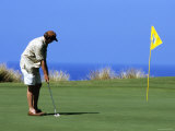 Golfer  Hapuna Golf Course  Kohala Coast  Hawaii  Hawaii