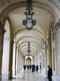 Columned Archway  Praca Do Comercio  Baixa  Lisbon  Portugal