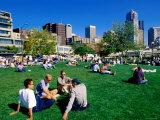People in Victor Steinbeck Park  Seattle  Washington