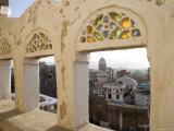 Old Town through Window  San'a  Yemen