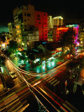 Night Traffic on Le Thanh Ton Street  Ho Chi Minh City  Vietnam