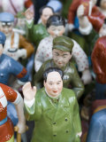 Figurine of Chairman Mao Surrounded by Accolytes  Dontai Road Antiques Market  Shanghai  China