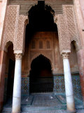 Columned Archway at Saadian Tombs  Marrakesh  Morocco