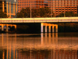 First Street Bridge over Town Lake in Austin  Austin  Texas