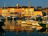 Harbour Boats and Waterfront Houses  St Tropez  Provence-Alpes-Cote d&#39;Azur  France