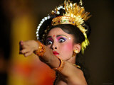 Balinese Woman Dancing at the Great Youth Gong Kebyar Compilation from Bangli and Gianyar Regency