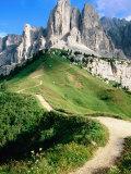 Sello Massif  Passo Gardena  Dolomites  Dolomiti di Sesto Natural Park  Trentino-Alto-Adige  Italy