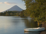 Boat on Lago de Nicaragua with Volcan Concepcion in Distance  Isla de Ometepe  Rivas  Nicaragua