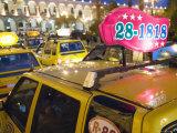 Taxi Cab Jam in Plaza de Armas  Arequipa  Peru