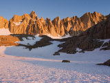 Mt Whitney and Eastern Ramparts of High Sierra at Sunrise  California