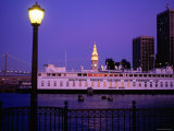 Ferry Building from Pier 5  Dusk  San Francisco  California
