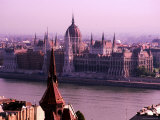 Parliament from Castle District  Budapest  Pest  Hungary