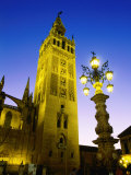 La Giralda Cathedral at Night  Sevilla  Andalucia  Spain