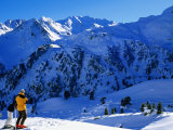 Skiers Above Tortin  Verbier  Valais  Switzerland