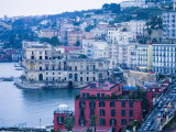 Buildings along Waterfront  Posilipo  Naples  Campania  Italy