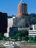 Willamette River  Downtown Skyline Seen from East  Portland  Oregon