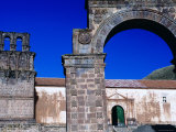 Stone Church Arch and Belltower  Juli  Puno  Peru