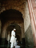 Call to Pray Inside the Badshahi Mosque  Lahore  Punjab  Pakistan