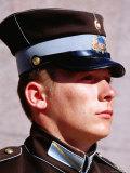 Soldier Guarding Freedom Monument  Riga  Latvia