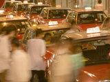 Taxi Jam in Lan Kwai Fong  Hong Kong  China