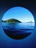 Islands Seem from Star Clipper Porthole  Tortola
