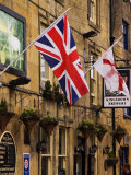 Flags Hanging Outside a Pub  Stow-On-The-Wold  Gloucestershire  England