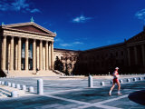 Runner Outside Philadelphia Museum of Art  Philadelphia  Pennsylvania