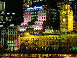 Flinders Street Station Illuminated at Night  Melbourne  Australia