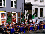 Outdoor Cafe on Stroget  Copenhagen  Denmark